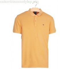 New collection SLIM-FIT COTTON PIQUÉ POLO SHIRT FADED PEACH SCOTCH AND SODA MEN MDrWqPGP