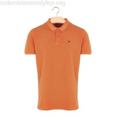 New collection SLIM-FIT COTTON PIQUÉ POLO SHIRT ORANGE SCOTCH AND SODA MEN FEmxk5lH