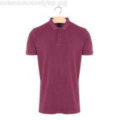 New collection SLIM-FIT COTTON PIQUÉ POLO SHIRT PURPLE SCOTCH AND SODA MEN jgLgCUOL
