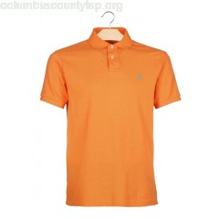 New collection SLIM-FIT COTTON POLO SHIRT FLARE ORANGE POLO RALPH LAUREN MEN HKIU6zhg