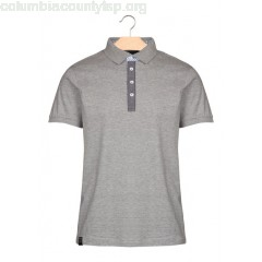 New collection SLIM-FIT JERSEY POLO SHIRT GRIS CHINE BEST MOUNTAIN MEN LXlE72lf