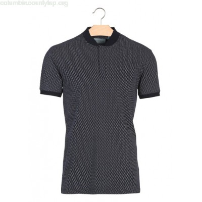 New collection SLIM-FIT PRINTED COTTON POLO SHIRT NAVY BLAZER MINIMUM MEN 1AA74uD8