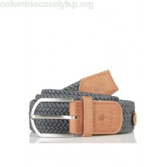 New collection BRAIDED CANVAS BELT DARK GREY FAGUO MEN 7xySmHP6
