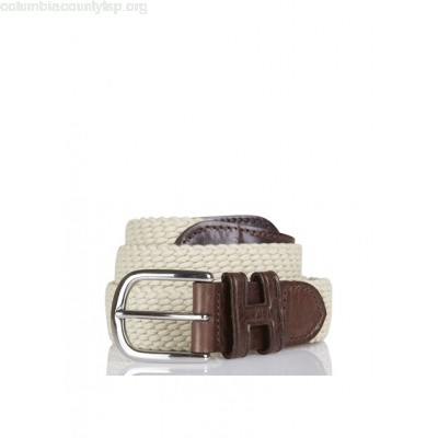 New collection BRAIDED CANVAS BELT ECRU HACKETT MEN lGyS5UlF