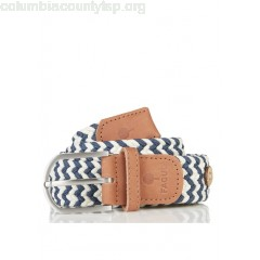 New collection BRAIDED COTTON BELT DENIM/OFF WHITE FAGUO MEN LoN3c7b8