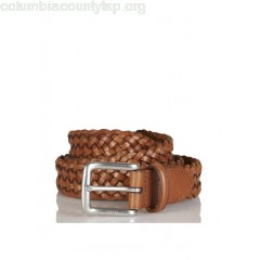 New collection BRAIDED LEATHER BELT TAN POLO RALPH LAUREN MEN f8jLJiRQ