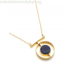 Contrast Geometric Pendant Chain Necklace SZRQQU2g
