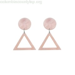Acrylic Round Triangle Geometric Drop Earrings c6unZCyF