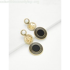 Contrast Round Drop Earrings With Jewelry jl02VI9g
