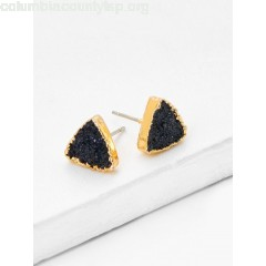Contrast Triangle Design Stud Earrings JQApEAbc