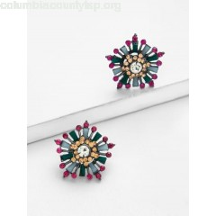 Gemstone Stud Earrings H5htS1XF