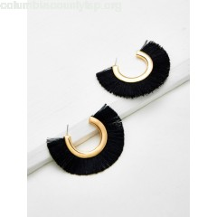 Half Circle Fringe Earrings L8TbS2Cm