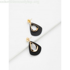 Hollow Water Drop Shaped Drop Earrings nAHdmwZ8