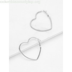 Open Heart Design Drop Earrings TOTLqZ5V