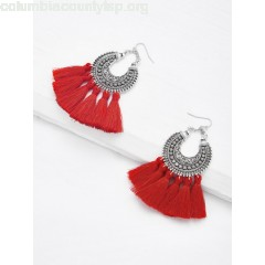 Tassel Drop Statement Earrings 8wptsCZd