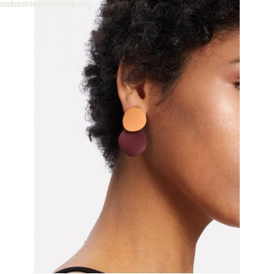 Two Tone Round Flake Drop Earrings srL2QVht