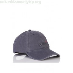 New collection ADJUSTABLE COTTON CAP WITH LOGO GREY SUPERDRY MEN Rp0uMBCv