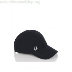 New collection CURVED VISOR CAP IN COTTON BLACK FRED PERRY MEN 07uAy7KV
