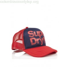 New collection SCREEN-PRINTED BASEBALL CAP NAVY SUPERDRY MEN MfEkZk7U