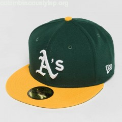 Fitted Cap Acperf Oakland Athletics 59Fifty in black eNIPH5Ao