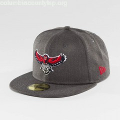 Fitted Cap NBA Atlanta Hawks in grey sfE3FqAb