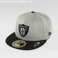 Fitted Cap <small>New Era</small><br> Reflective Heather Oakland Raiders 59Fifty in grey fudMT8AE