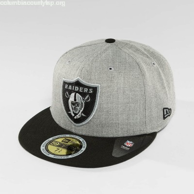 Fitted Cap New Era Reflective Heather Oakland Raiders 59Fifty in grey fudMT8AE
