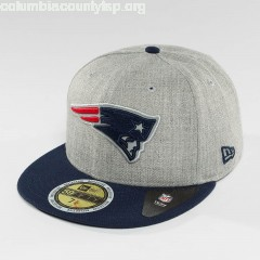 Fitted Cap Reflective Heather New England Patriots in grey iNGoGzpv