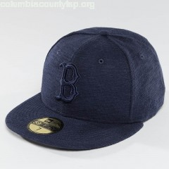 Fitted Cap Slub in blue tX67A9Vd