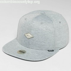 Snapback Cap 6 Panel Jersey Pin in grey GIVWWJzr