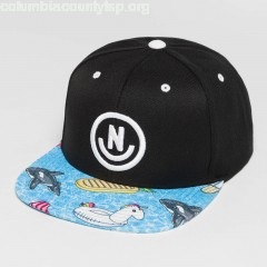 Snapback Cap Daily SMile Pattern in black OjLcWn0w