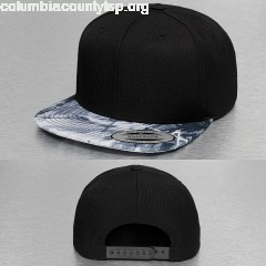 Snapback Cap Oil Paint in black nj8Tofji