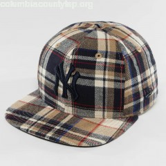 Snapback Cap Spring Plaid NY Yankees 9Fifty in brown 2n8tAckE