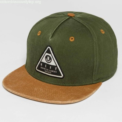 Snapback Cap X Wash in olive 7Oz24Kbm