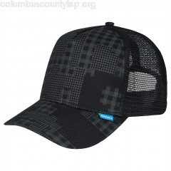 Trucker Cap Camou High Fitted in black VLoRkAIL