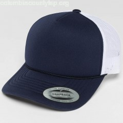 Trucker Cap Curved Visor Foam in blue HiuOmJCZ