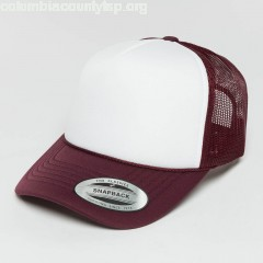 Trucker Cap Curved Visor Foam in red qBMBGfyk