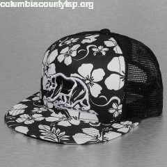 Trucker Cap Floral 5 Panel in black Kzfu1zSI