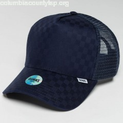 Trucker Cap HFT Tie Check in blue OAYWUhkW