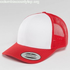 Trucker Cap Retro Colored Front in red iJ8PbJ3s