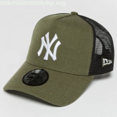 Trucker Cap Seas Heather NY Yankees in olive tJl7VpYF