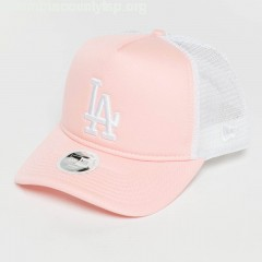 Women Trucker Cap Womans League Essential LA Dodgers in pink bsEaqX61