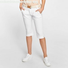 Women Short Capri in white iFfaKAoV